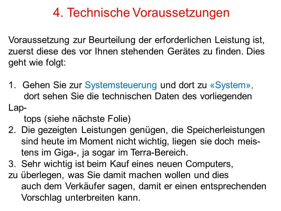 4. Technische Voraussetzungen