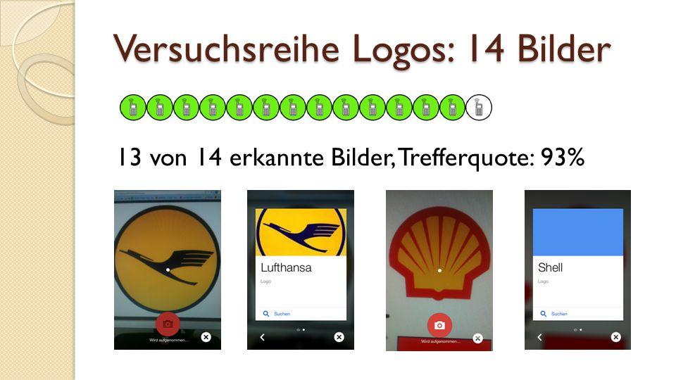 Versuchsreihe Logos: 14 Bilder