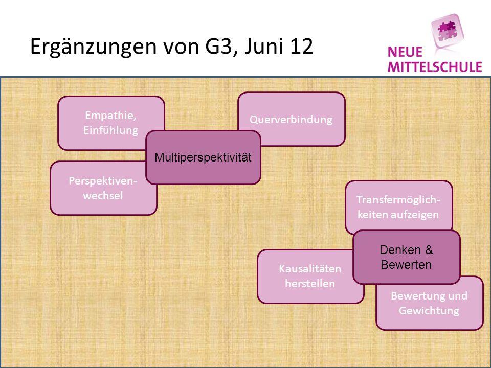 Ergänzungen von G3, Juni 12 Querverbindung Empathie, Einfühlung