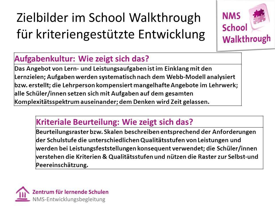 Zielbilder im School Walkthrough für kriteriengestützte Entwicklung