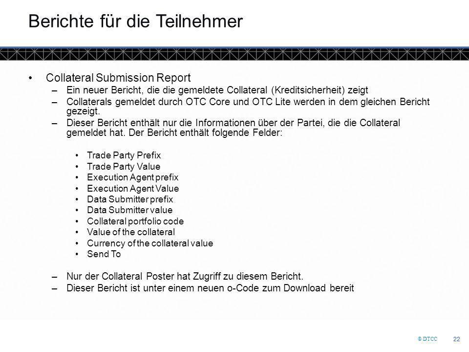 Berichte für die Teilnehmer