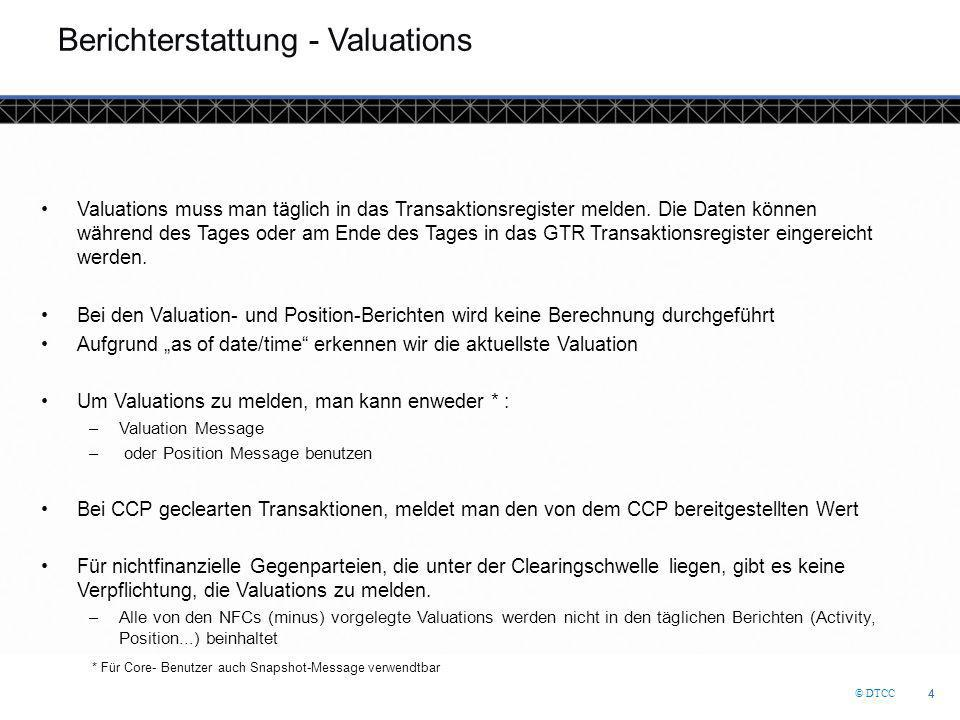 Berichterstattung - Valuations