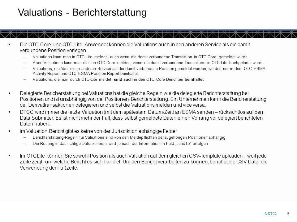 Valuations - Berichterstattung