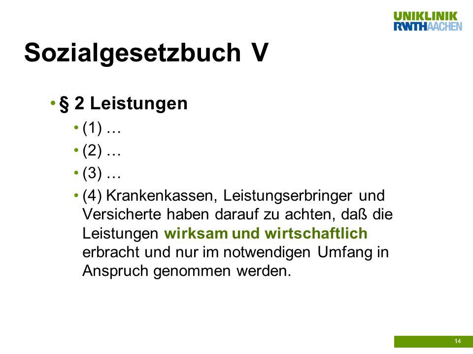 Sozialgesetzbuch V § 2 Leistungen (1) … (2) … (3) …