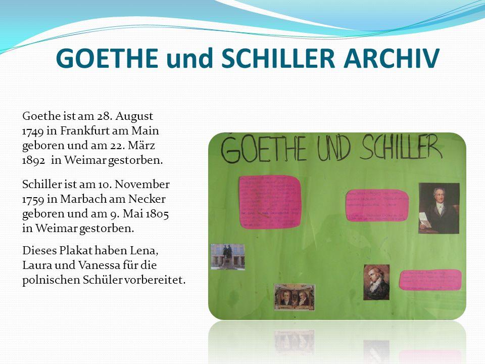 GOETHE und SCHILLER ARCHIV
