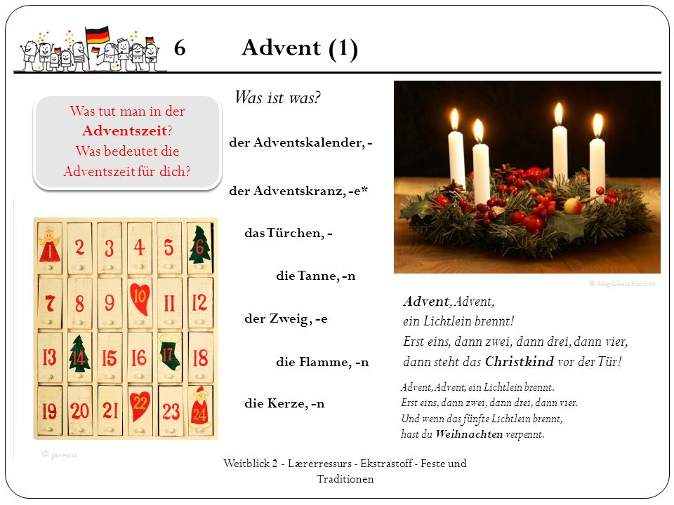 6 Advent (1) Was ist was Was tut man in der Adventszeit