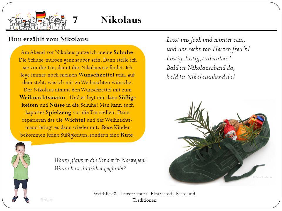 Weitblick 2 - Lærerressurs - Ekstrastoff - Feste und Traditionen
