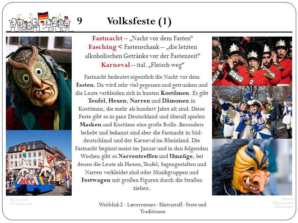 """9 Volksfeste (1) Fastnacht – """"Nacht vor dem Fasten"""