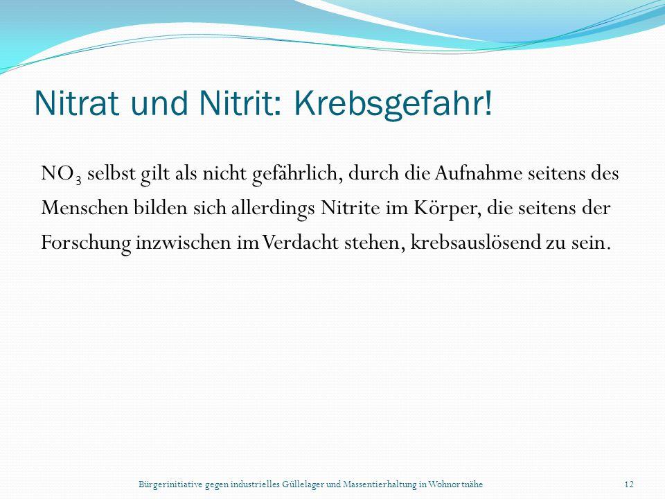 Nitrat und Nitrit: Krebsgefahr!