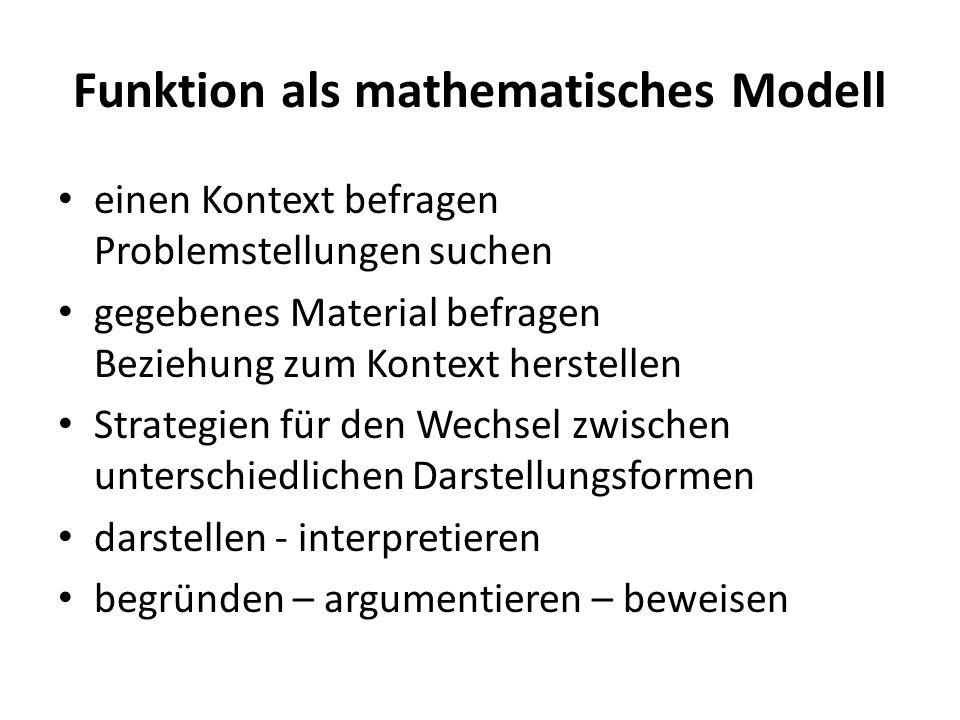 Funktion als mathematisches Modell