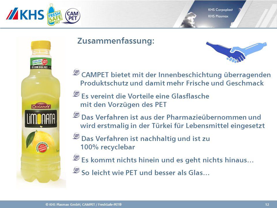 Zusammenfassung: CAMPET bietet mit der Innenbeschichtung überragenden Produktschutz und damit mehr Frische und Geschmack.