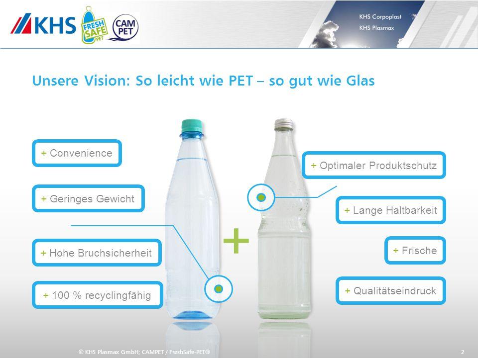 Unsere Vision: So leicht wie PET – so gut wie Glas