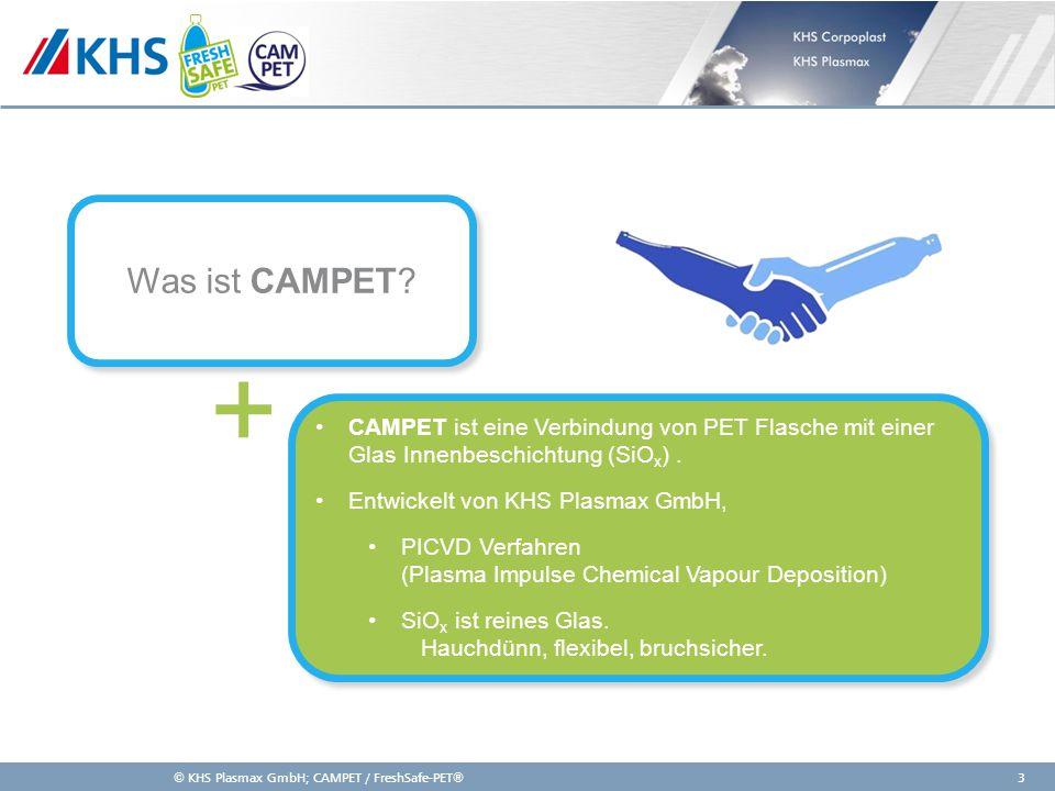 Was ist CAMPET + CAMPET ist eine Verbindung von PET Flasche mit einer Glas Innenbeschichtung (SiOx) .