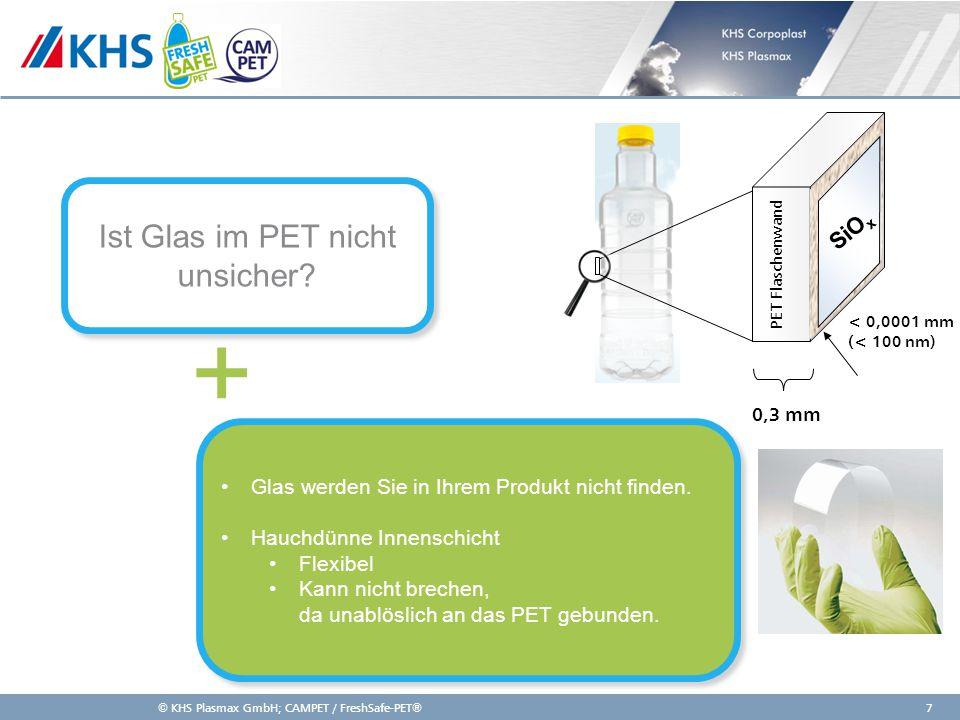 Ist Glas im PET nicht unsicher