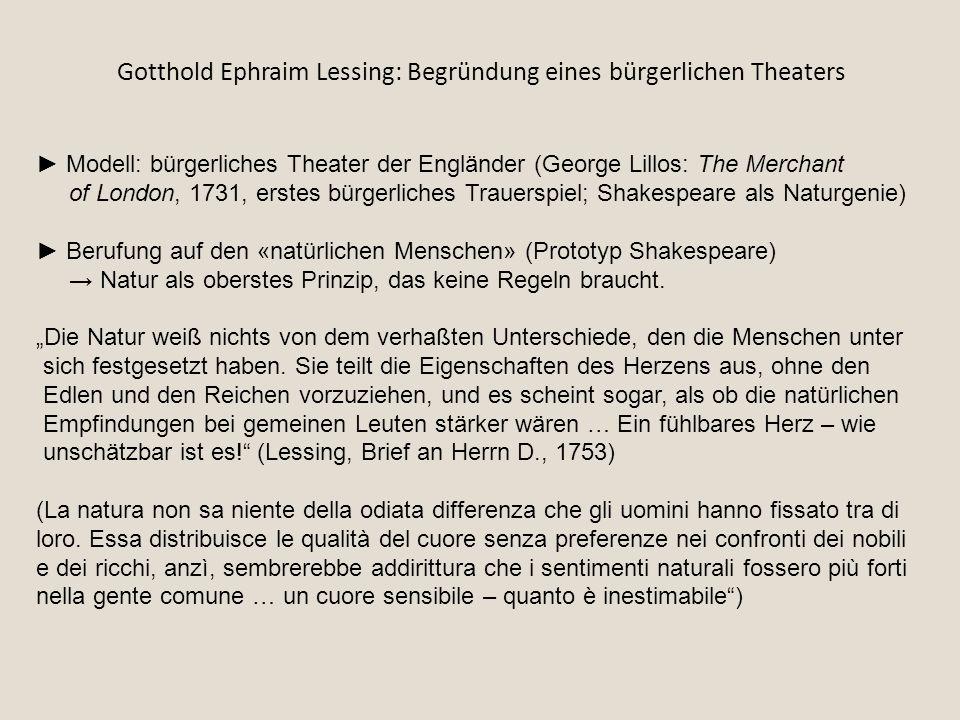 Gotthold Ephraim Lessing: Begründung eines bürgerlichen Theaters