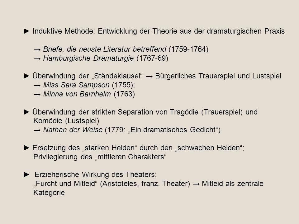 ► Induktive Methode: Entwicklung der Theorie aus der dramaturgischen Praxis