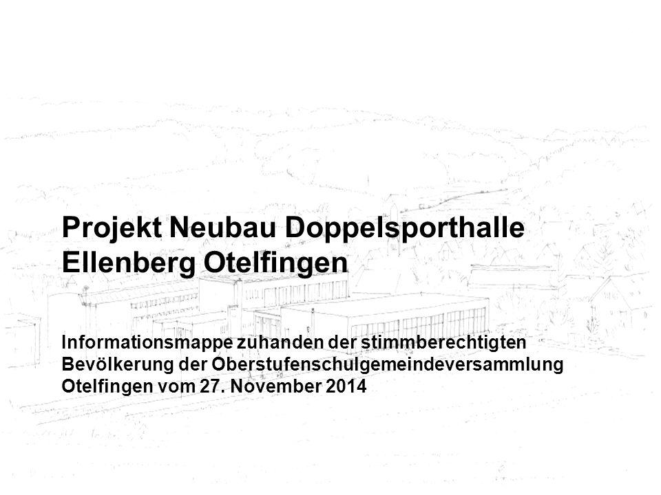 Projekt Neubau Doppelsporthalle Ellenberg Otelfingen