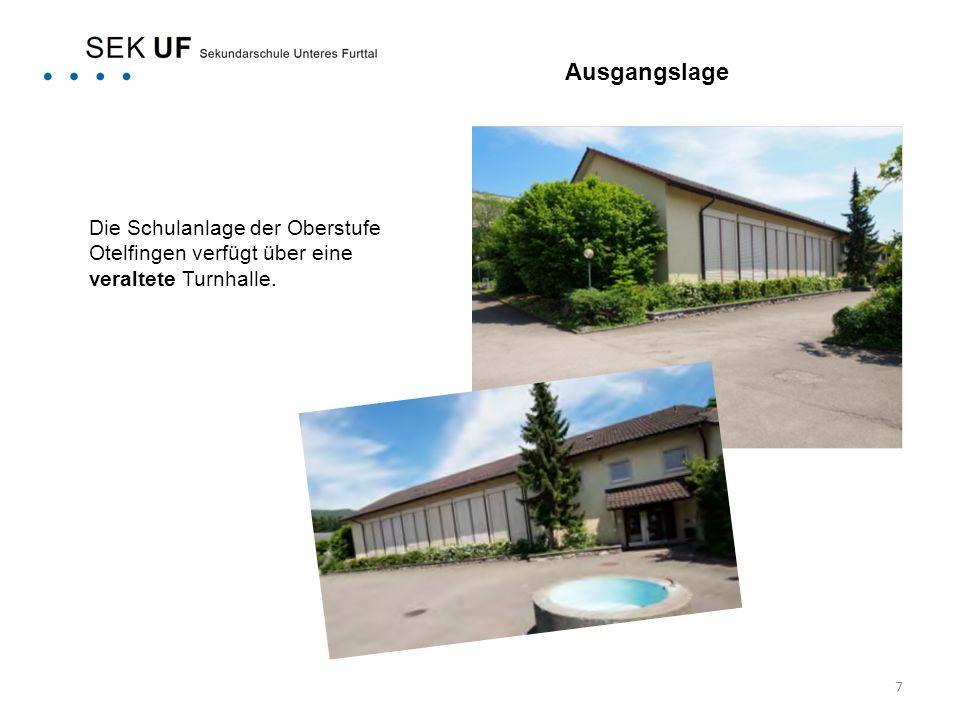 Ausgangslage Die Schulanlage der Oberstufe Otelfingen verfügt über eine veraltete Turnhalle.