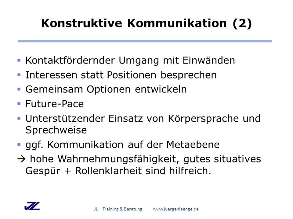 Konstruktive Kommunikation (2)