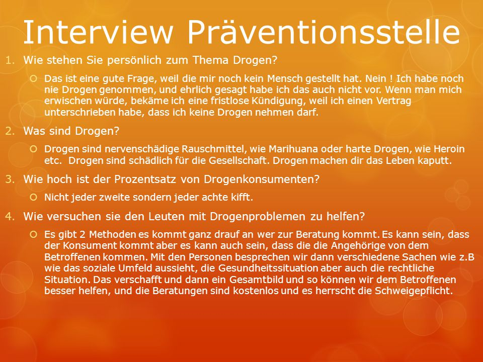 Interview Präventionsstelle