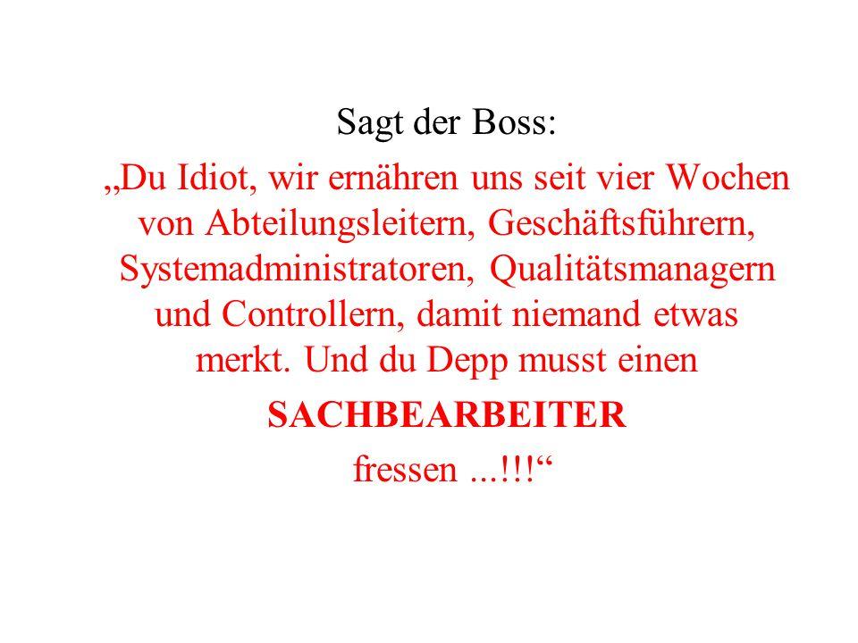 Sagt der Boss: