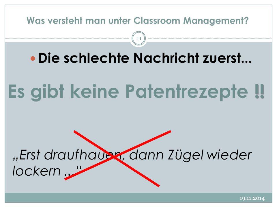 Was versteht man unter Classroom Management