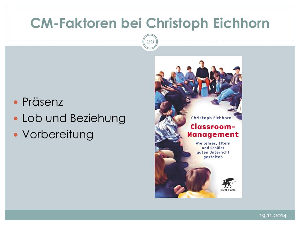 CM-Faktoren bei Christoph Eichhorn