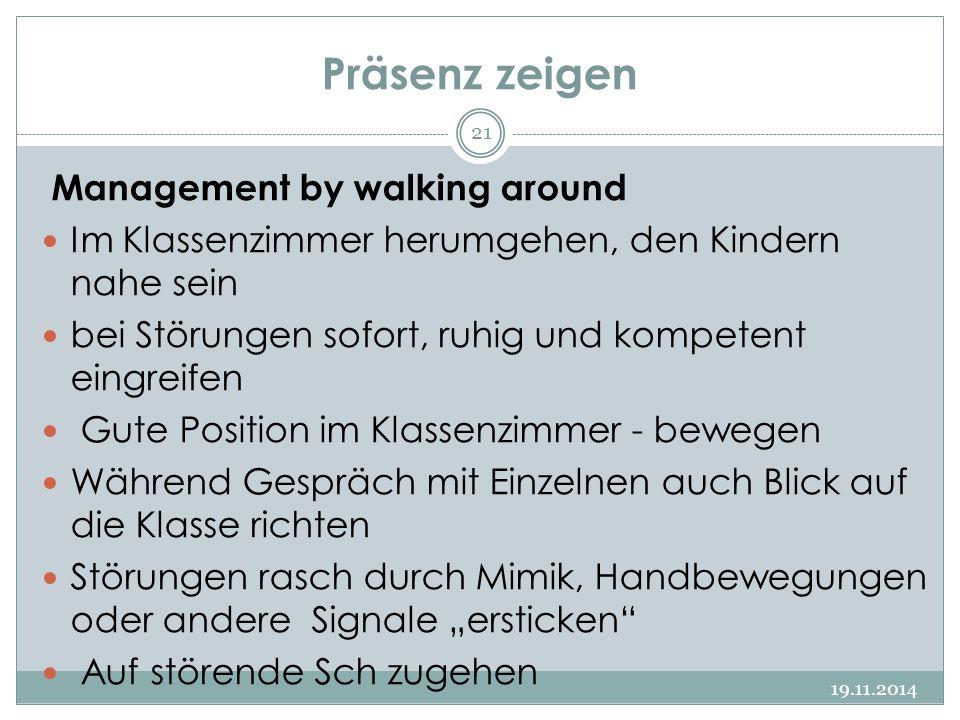 Präsenz zeigen Management by walking around