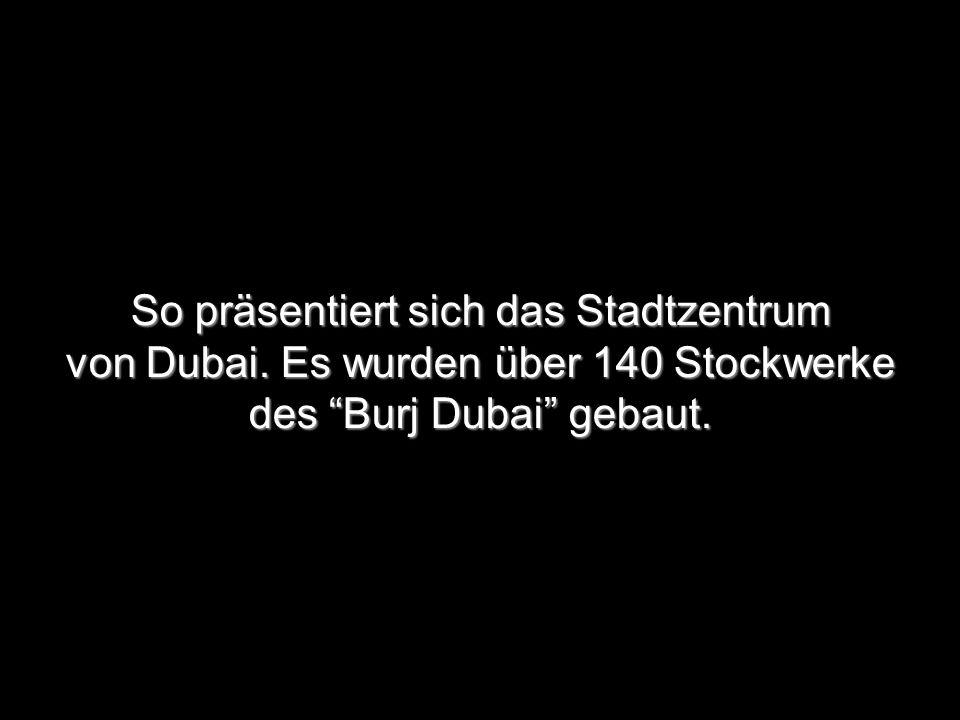 So präsentiert sich das Stadtzentrum von Dubai