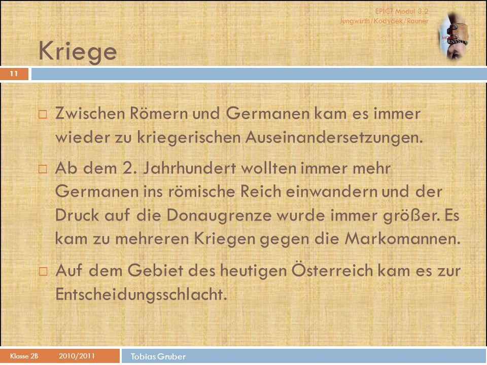 Kriege Zwischen Römern und Germanen kam es immer wieder zu kriegerischen Auseinandersetzungen.