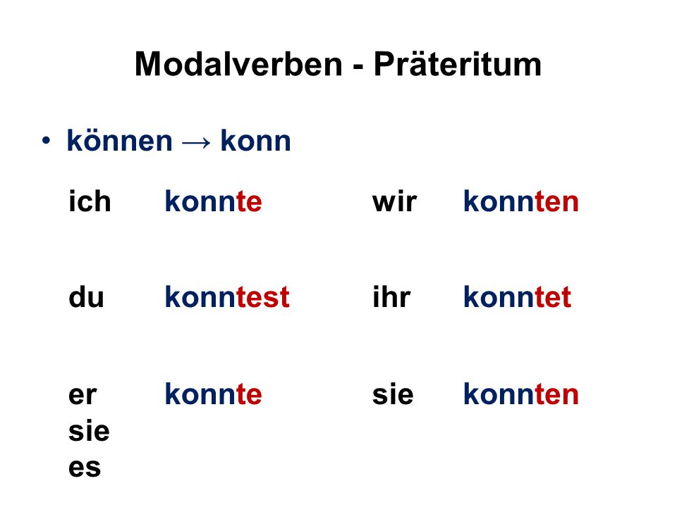 Modalverben - Präteritum