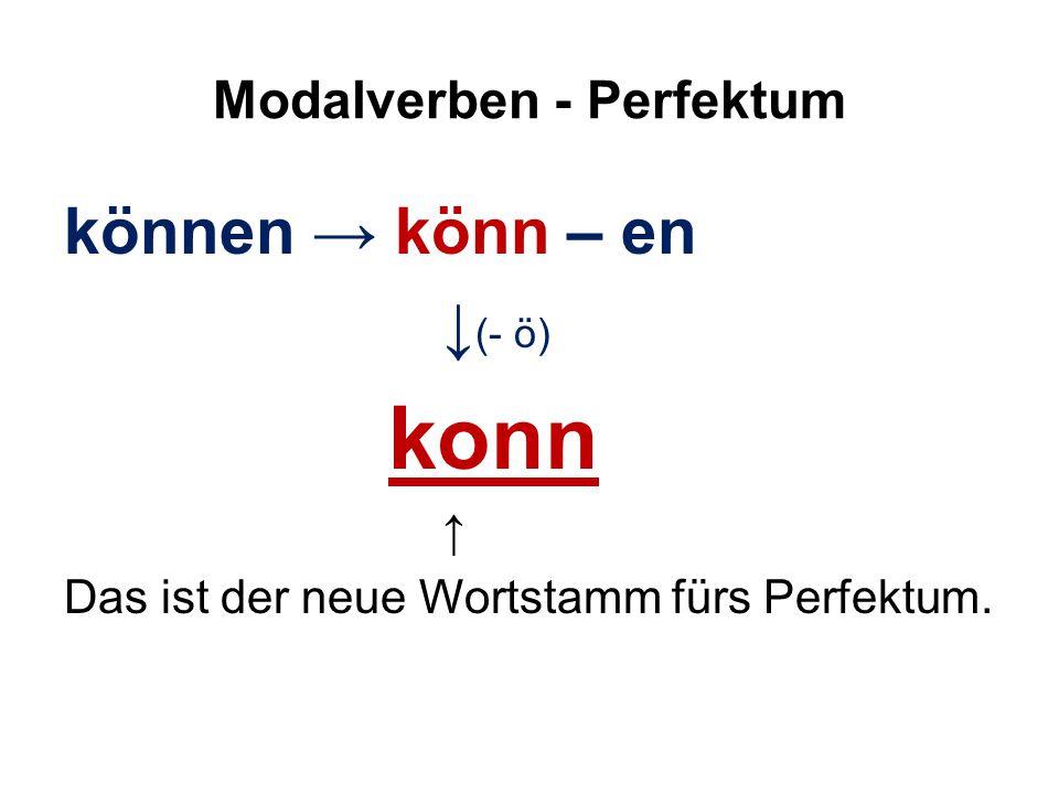 Modalverben - Perfektum