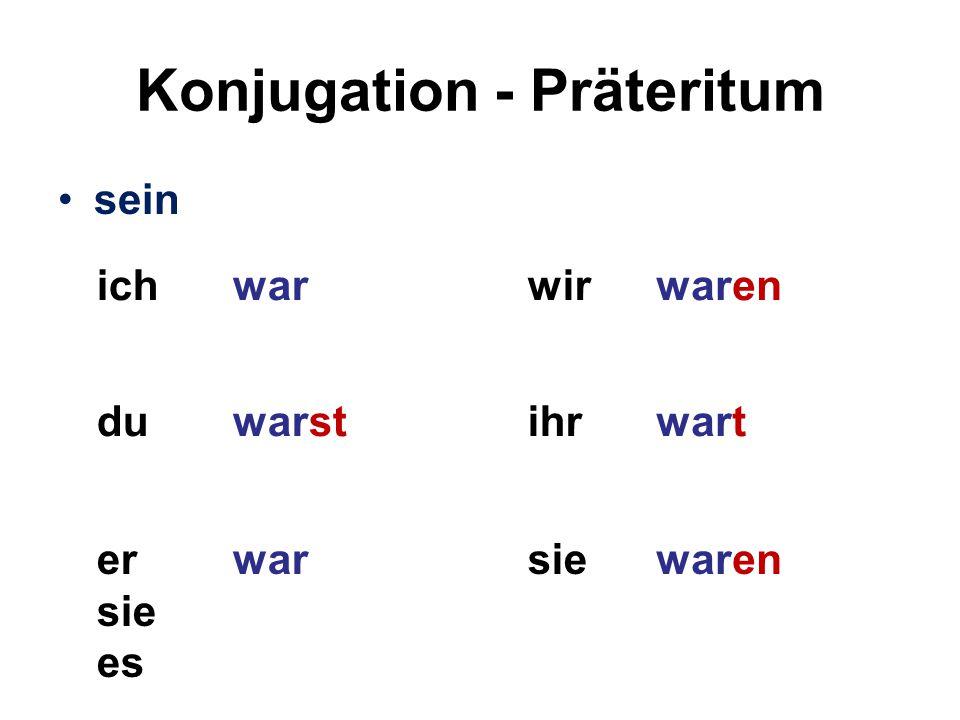 Konjugation - Präteritum