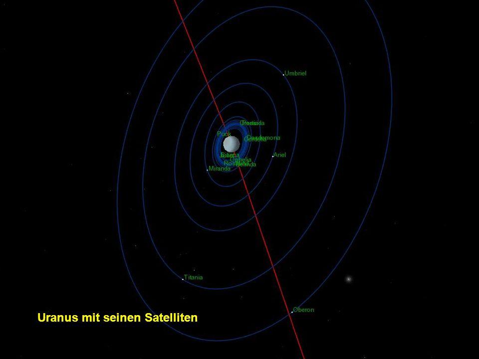 Uranus mit seinen Satelliten
