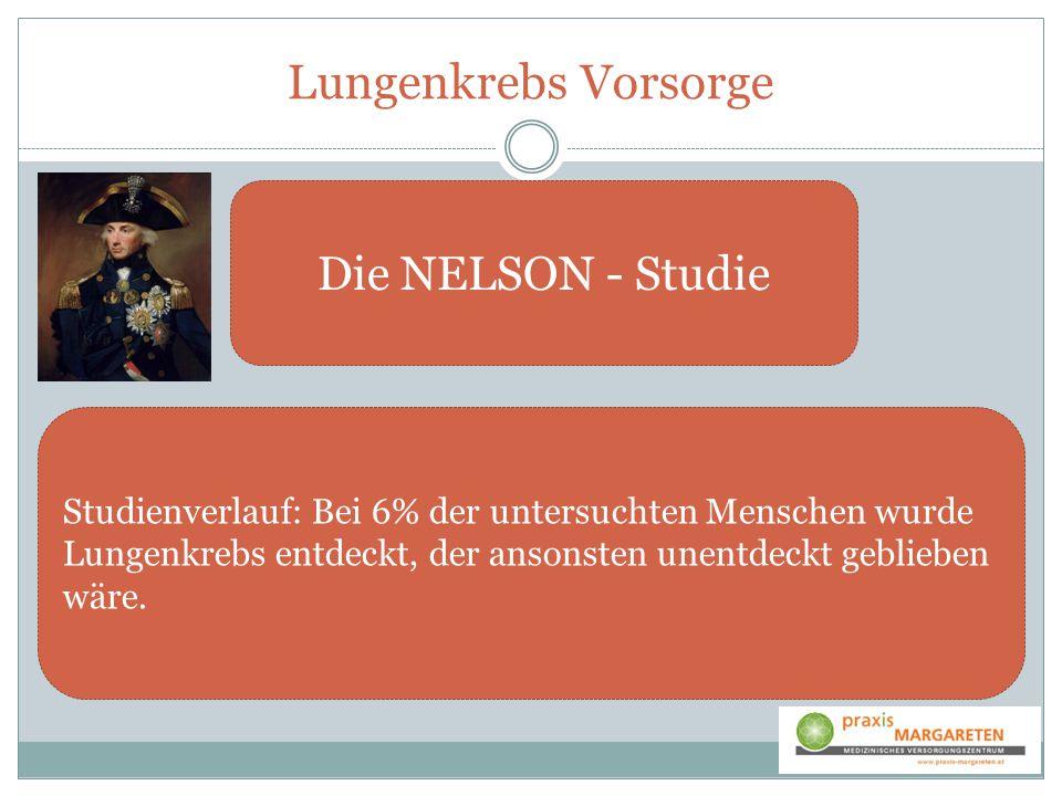 Lungenkrebs Vorsorge Die NELSON - Studie