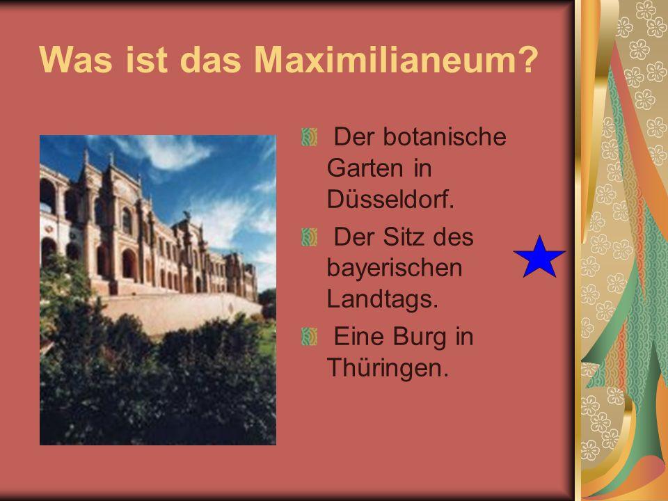 Was ist das Maximilianeum