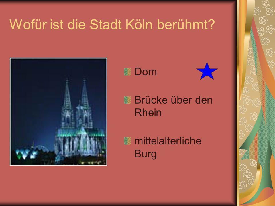 Wofür ist die Stadt Köln berühmt
