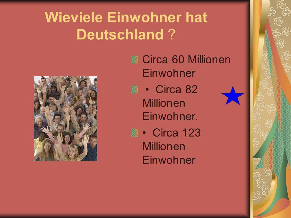 Wieviele Einwohner hat Deutschland