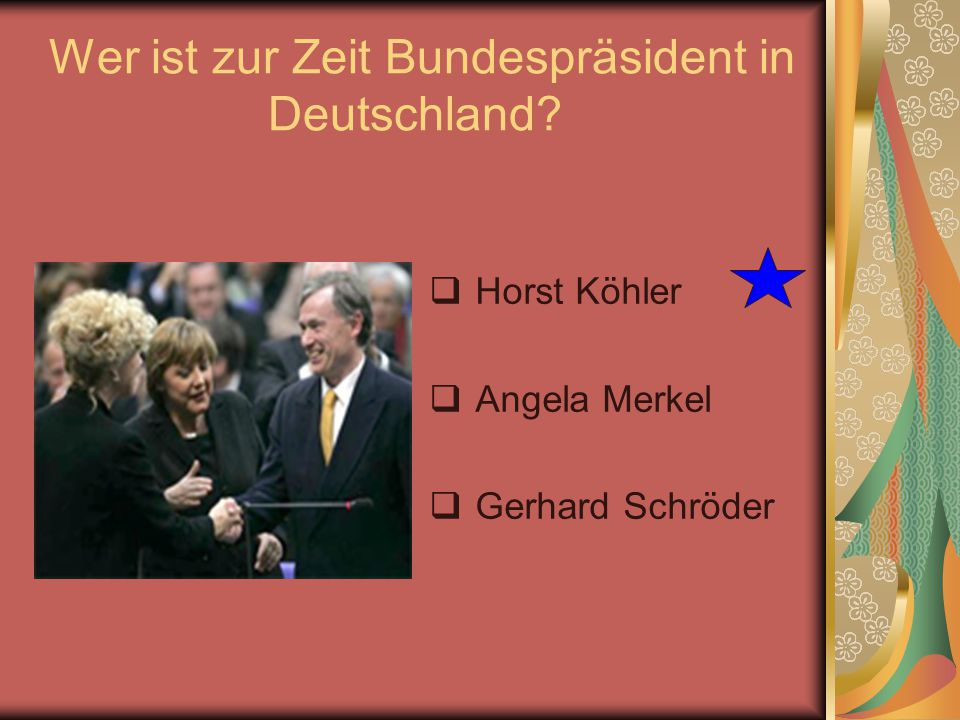 Wer ist zur Zeit Bundespräsident in Deutschland