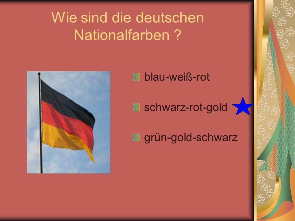 Wie sind die deutschen Nationalfarben