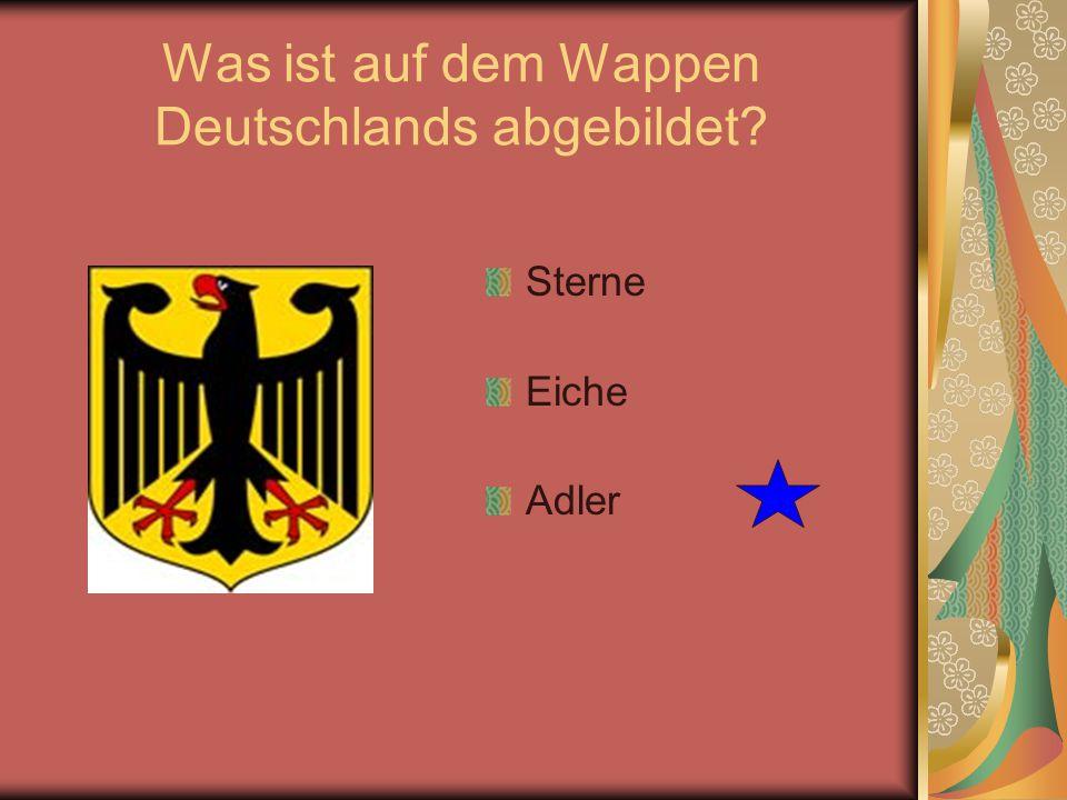 Was ist auf dem Wappen Deutschlands abgebildet