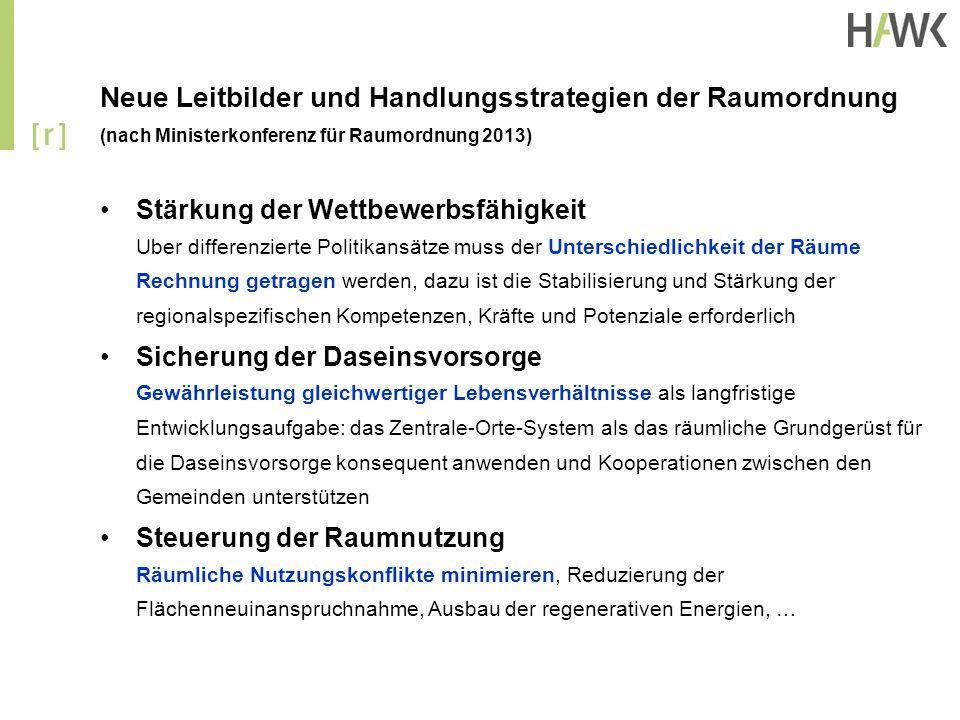 Neue Leitbilder und Handlungsstrategien der Raumordnung (nach Ministerkonferenz für Raumordnung 2013)