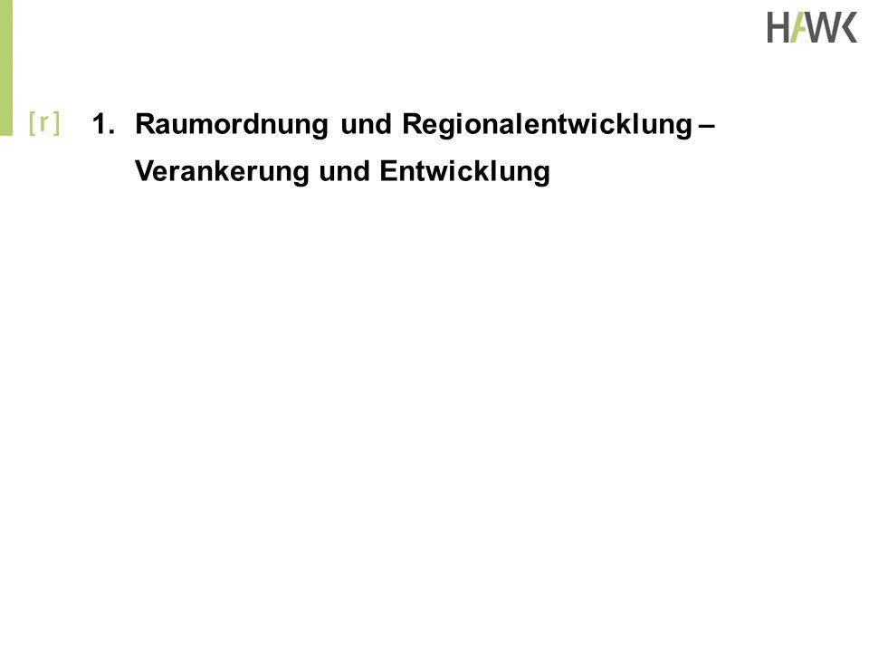 Raumordnung und Regionalentwicklung – Verankerung und Entwicklung