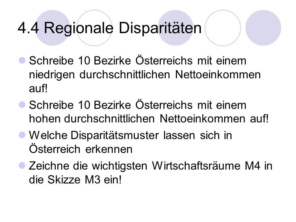 4.4 Regionale Disparitäten