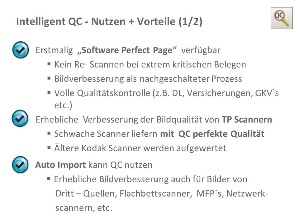 Intelligent QC - Nutzen + Vorteile (1/2)