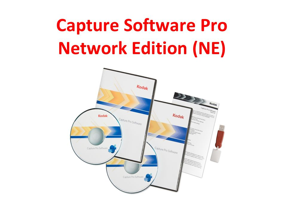 Capture Software Pro Network Edition (NE)