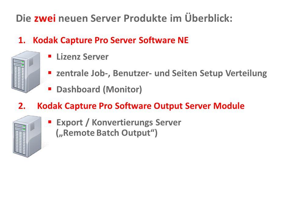 Die zwei neuen Server Produkte im Überblick: