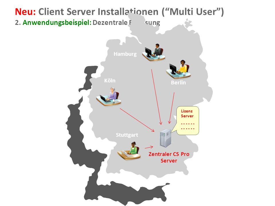 Zentraler CS Pro Server