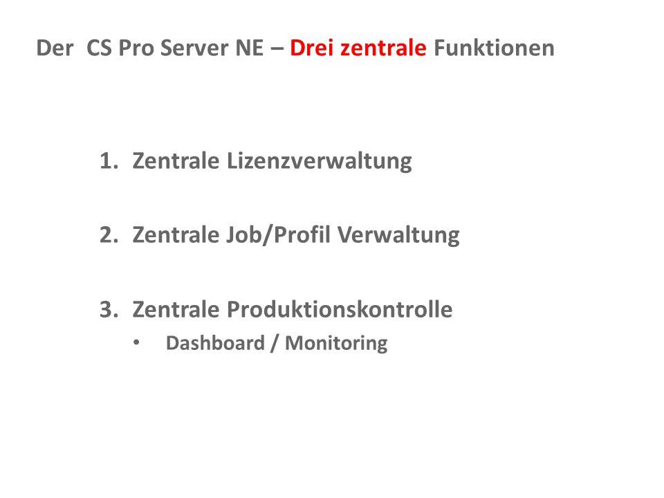 Der CS Pro Server NE – Drei zentrale Funktionen