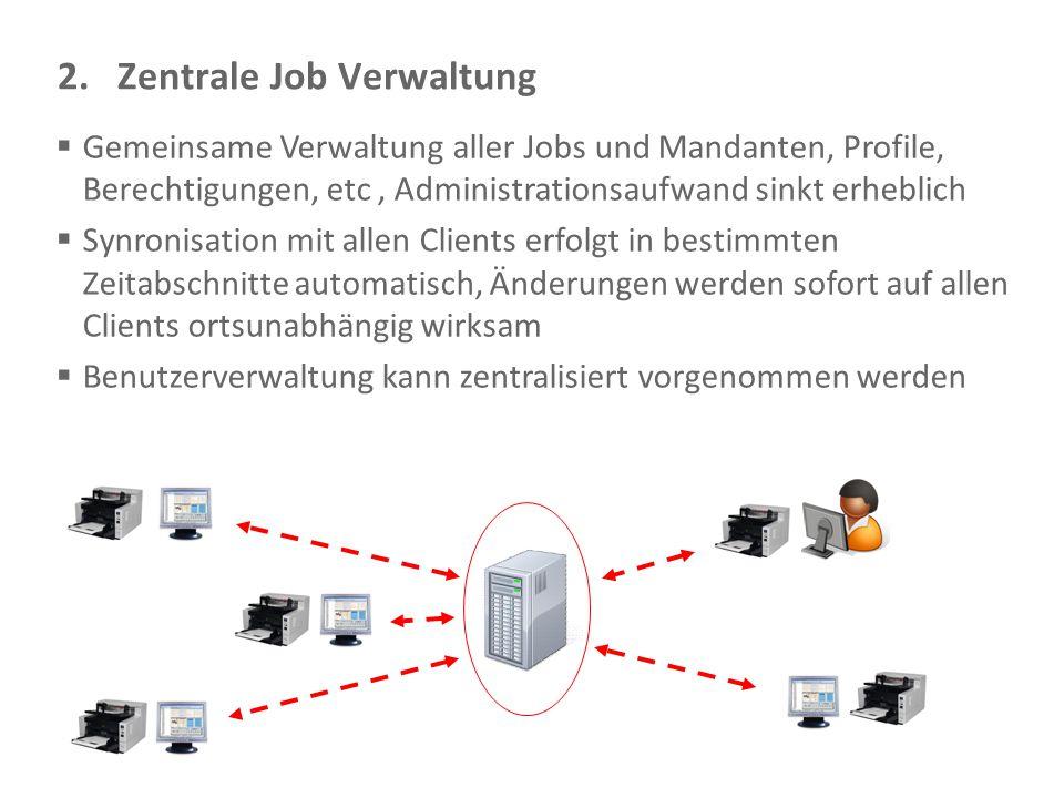 2. Zentrale Job Verwaltung